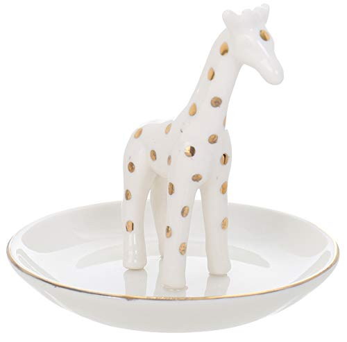 Capelli New York 3D Ceramic Trinket Tray Giraffe White Combo One ()
