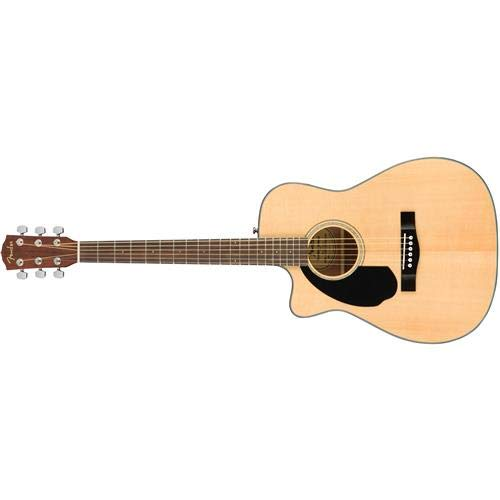 Fender CC-60SCE Left Handed Natural Solid Top Concert Acoustic Electric Guitar