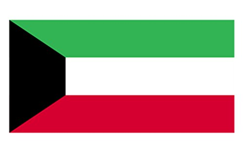 Aimto 3x5 ft Kuwait Flag - bright colors and anti-fading materials - polyester canvas and brass buttonhole - quality assurance (Kuwait Pick)