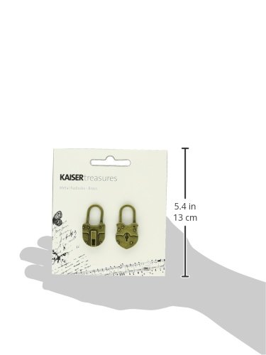 Kaisercraft TM813 Treasures Metal Padlock, 1.5 by 0.75 by 0.25-Inch, Antique Brass, 2-Pack by Kaisercraft (Image #2)