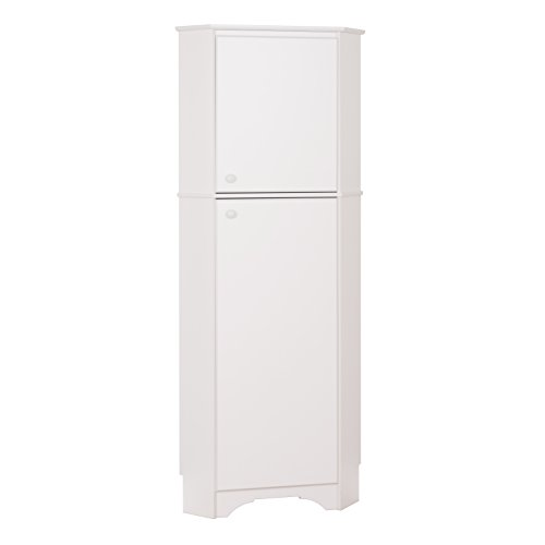 Prepac WSCC-0605-1 Elite Home Corner Storage Cabinet, Tall 2-Door, White