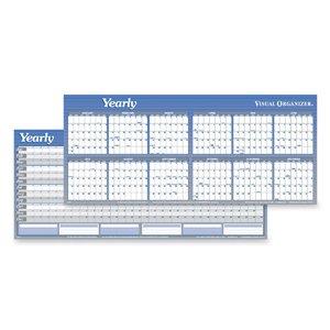 (AT-A-GLANCE Visual Organizer Horizontal Erasable Wall Planner, Jumbo Wall, Blue, 2013 (A177-13))