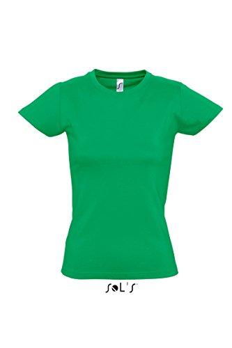 Sols - Imperial women - Damen Rundhals T-Shirt L,Kelly Green