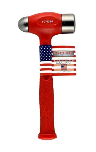Trusty-Cook Ball Peen Dead Blow Hammer (43oz, Red)