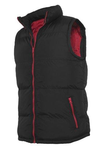 """Urban : """"Contrast Bubble Vest"""" taille: S, couleurs: black-red …TB299"""