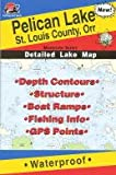 Fishing Hot Spots Map for Pelican Lake in Minnesota