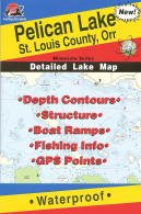 Fishing Hot Spots Map for Pelican Lake in Minnesota by Fishing Hot Spots