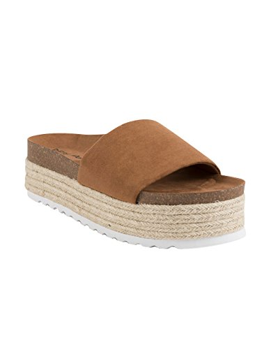 - Dirty Laundry by Chinese Laundry Women's Pippa Espadrille Wedge Sandal, Whiskey Suede, 8 M US
