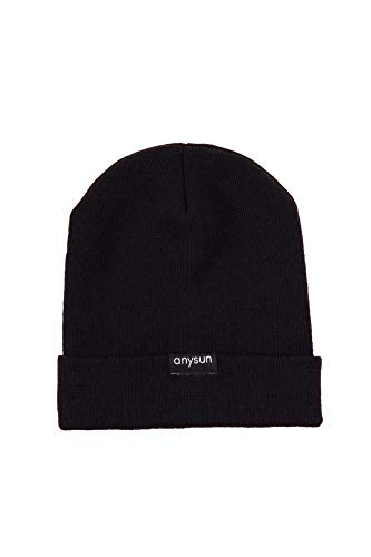 Anysun Satin-Lined Winter Beanie (Black) ()