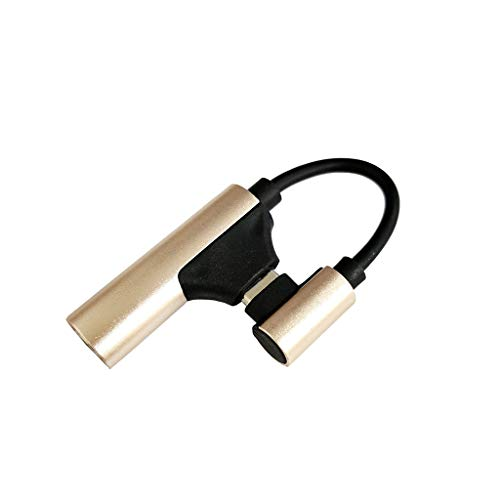 Price comparison product image Wireless Microphone, Accessories HandheldFor DJI Osmo Pocket,  Type C to 3.5mm Audio Adapter External, PTZ +Type (gold)