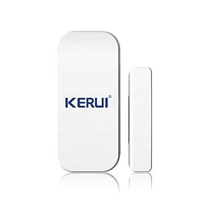 KERUI - Detector de apertura/Avisador de intrusión MAGNETIQUE apertura puerta ventana para sistema de