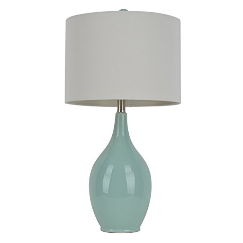 27-inch Spa Blue Ceramic Table Lamp ()