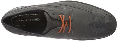 Rockport Dressports Modern Wingtip - Zapatos de vestir Hombre Gris - Grau (CASTLEROCK GREY SDE)