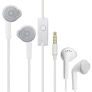crispy Wired In Ear Headset with Mic  White