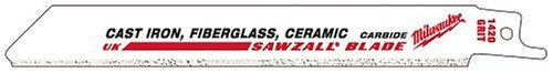 Milwaukee 48-00-1400 Sawzall Blade Tungsten Carbide 4-Inch Length