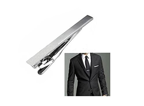 Men Stainless Steel Formal Simple Necktie Tie Bar Clasp Pinch Clip Clamp Sliver Color