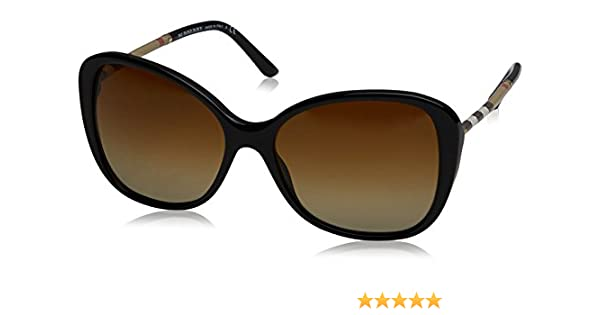5b9d826ccd8 Amazon.com  Burberry BE4235Q 3001T5 Black BE4235Q Butterfly Sunglasses  Polarised Lens Categ  Burberry  Clothing