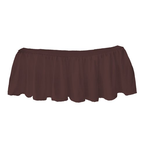 bkb Solid Ruffled Round Crib Skirt, Brown 009243406587