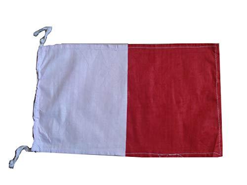 "Naval Signal Flag 8/"" X 13/"" Nautical // Boat 4 100/% Cotton – Marine Code"