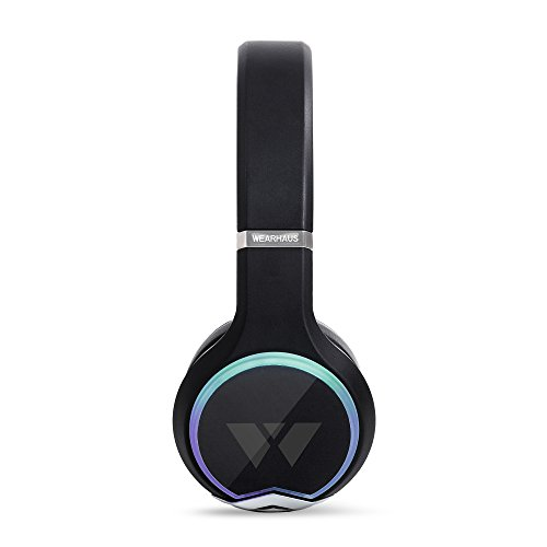 Wearhaus Arc On-Ear Bluetooth Headphones with Wireless Music Sharing, Customizable Color Ring, Touch Controls, Spotify Apple Music Integrated iPhone Android App - Black by Wearhaus (Image #2)