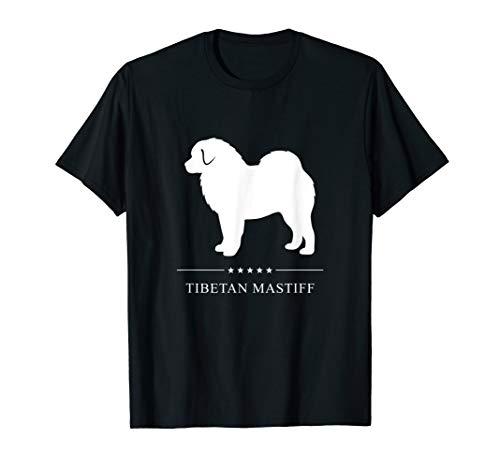 Tibetan Mastiff : White Silhouette T-Shirt