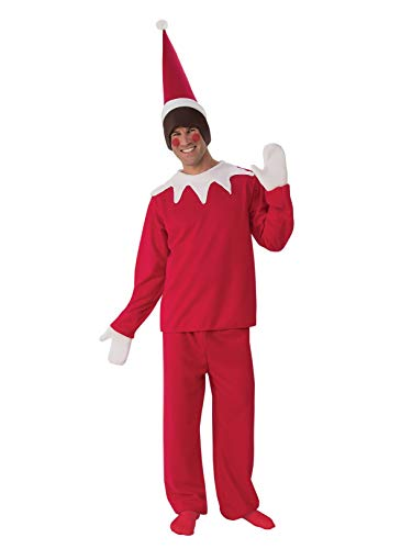 Rubie's Men's Sitting Elf Man Costume, Red/White, Standard -