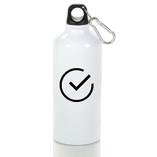 XIYX Yes Logo Graphic Design Classic Aluminum Sports Water Bottle Leak-Proof Lid 400 Ml/ 500 Ml/ 600 Ml