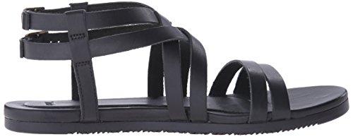 Crossover Sandal Black Leather Teva Avalina Women 10RzZZ