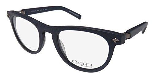 Oga By Morel 7949o For Ladies/Women Cat Eye Full-Rim Shape Spring Hinges Prestigious Brand Classy Eyeglasses/Glasses (51-21-125, Navy Pattern/Gray) (Blue Cat Eye Brille)