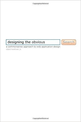 Designing The Obvious A Common Sense Approach To Web Application Design Robert Hoekman Jr 9780321453457 Amazon Com Books