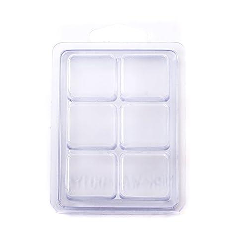 6 Cavity Wax Tart Clamshell Mould x 100
