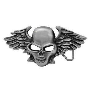 Buckles Skull Accessories Belt (Winged Biker Skull Belt Buckle)