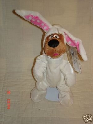 - Scooby Doo Easter Bunny Suit Plush Bean Bag 1999 Warner Brothers