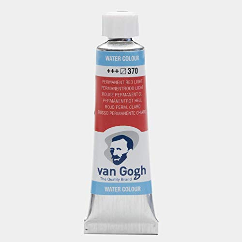 Van Gogh Watercolor Paint, 10ml Tube, Permanent Red Light 370 (Permanent Red Light)