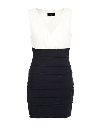 b0fba623bc28 AX Paris 2 In 1 Bodycon Dress - Dark blue - Womens - 10  Amazon.co.uk   Clothing