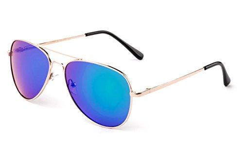 Kids Teens Fashion Metal Aviator Sunglasses Stainless Steel Frame Spring Hinge by Kyra Kids (Image #2)