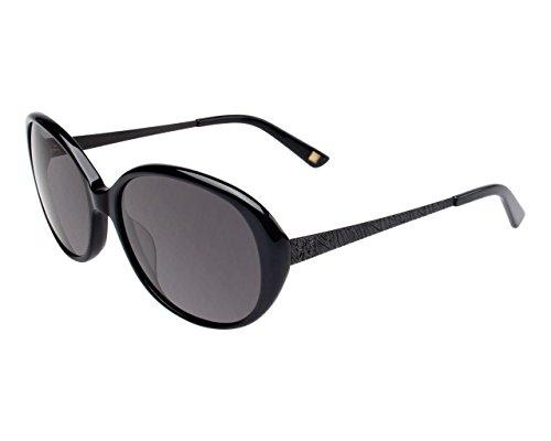 Anne Klein AK7000 Women's Oval Fashion Sunglasses - Black