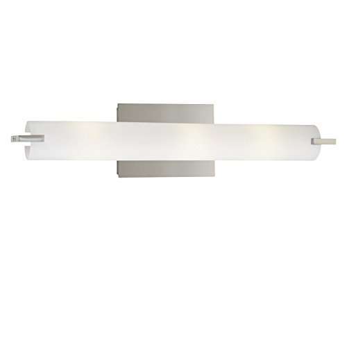 durable service George Kovacs P5042-077-L, Saber, 2 Light Bath Fixture, Chrome