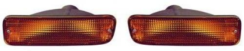 (Go-Parts PAIR/SET OE Replacement for 1995-2000 Toyota Tacoma Turn Signal Lights Assemblies/Lens Cover - Front Left & Right (Driver & Passenger) Side - (4WD + DLX RWD) For Toyota Tacoma)