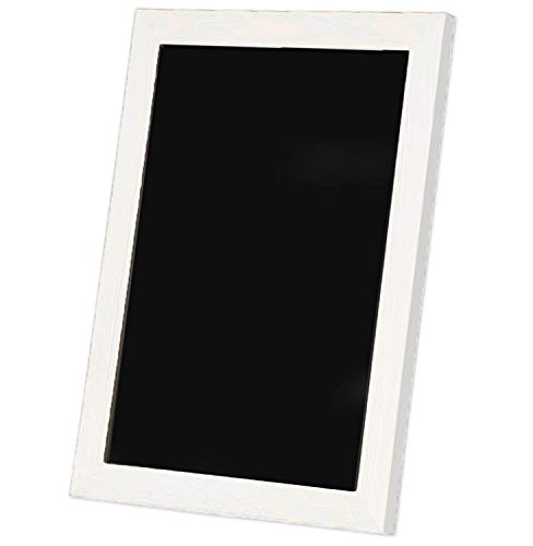 - Ilyapa Rustic Wooden Magnetic Kitchen Chalkboard Sign - 20x30 Inch White Framed Hanging Chalk Board for Farmhouse Decor, Wedding, Restaurant & Home