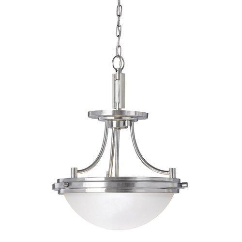 (Sea Gull Lighting 77660-962 Winnetka Ceiling Fixture, Two-Light, Brushed Nickel Finish)