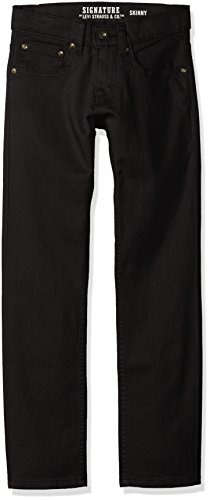 Signature by Levi Strauss & Co. Gold Label Big Boys' Slim Straight Fit Jeans, Raven, 12