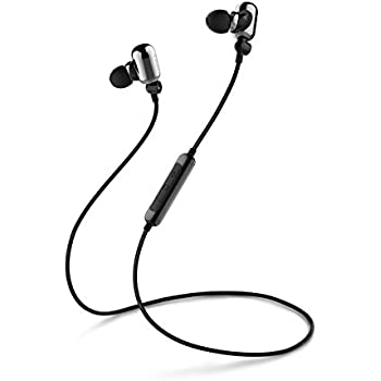 Edifier W293BT Bluetooth v4.1 aptX In-ear Headphones Earphones IPX7 Sweatproof Waterproof Dual Battery - Bright Silver