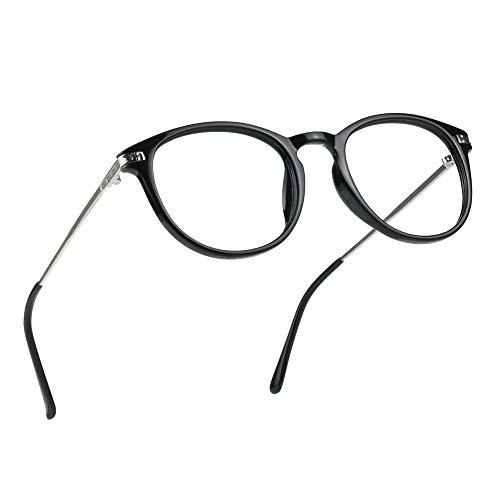 LifeArt Blue Light Blocking Glasses, Anti Eyestrain, Computer Reading Glasses, Gaming Glasses, TV Glasses for Women Men, Anti Glare (Clear, No Magnification)