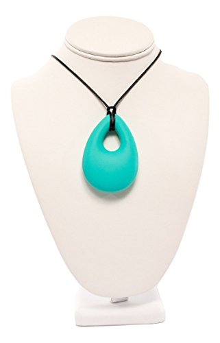 BPA Free Silicone Teething Necklace (Teardrop) (Turquoise)
