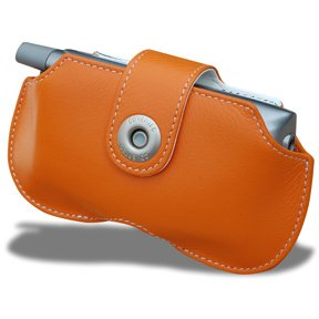 - Covertec Leather Horizontal Case for Palm Treo - Orange