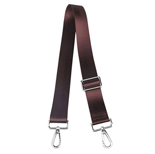 Adjustable Handbag Strap Replacement Guitar Style Canvas 57 Inches Crossbody Strap for Shoulder Bag (Dark Brown-02)