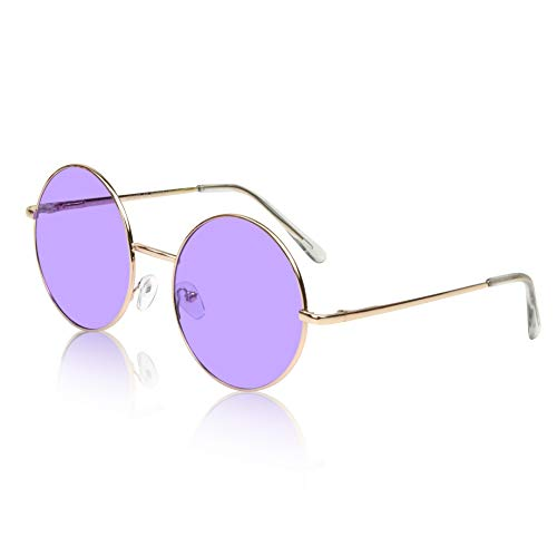Pro Retro Flash Sunglasses For Teen Teens Girls Color Tint Lens Shades Purple