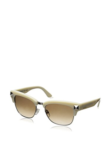 Valentino Studded Clubmaster Style Sunglasses in Ivory for sale  Delivered anywhere in USA