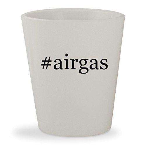 #airgas - White Hashtag Ceramic 1.5oz Shot Glass